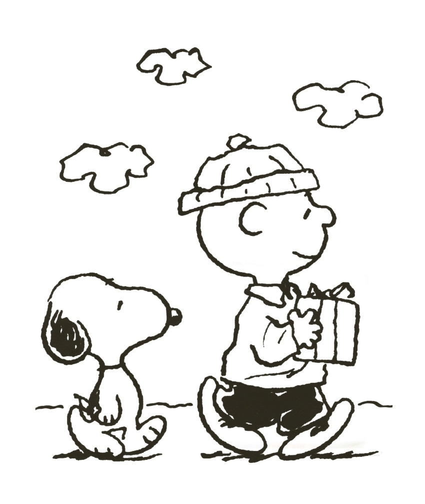 Snoopy Coloring Pages Christmas