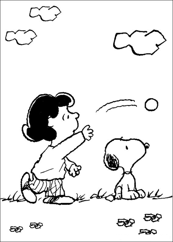 Snoopy Coloring Page for Kids