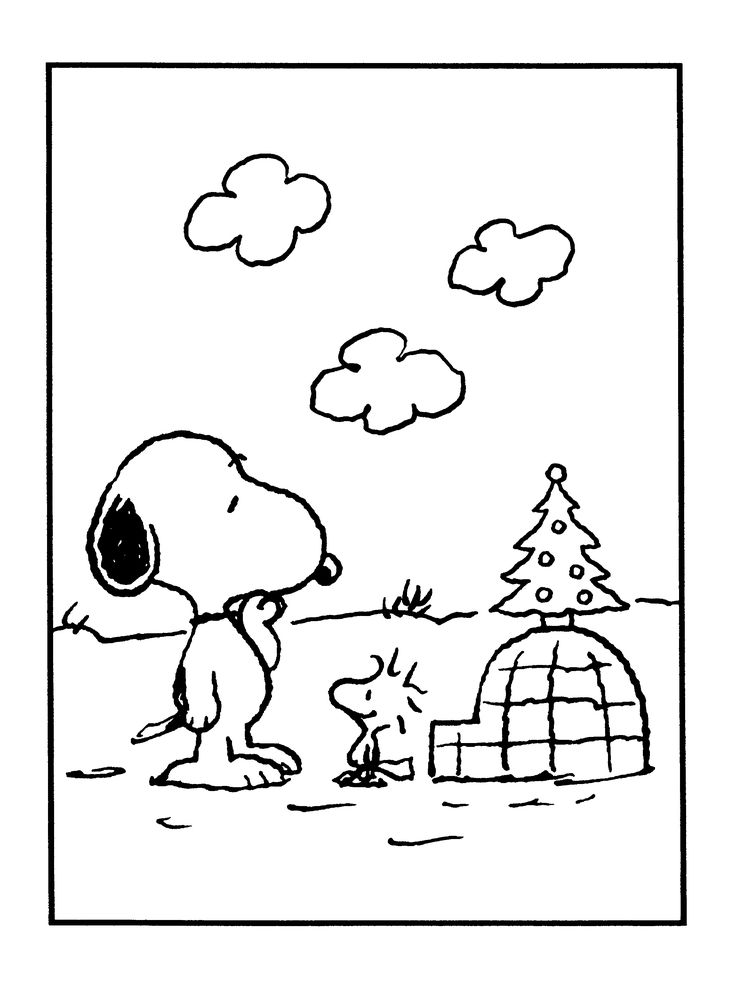 Printable Snoopy Coloring Sheets