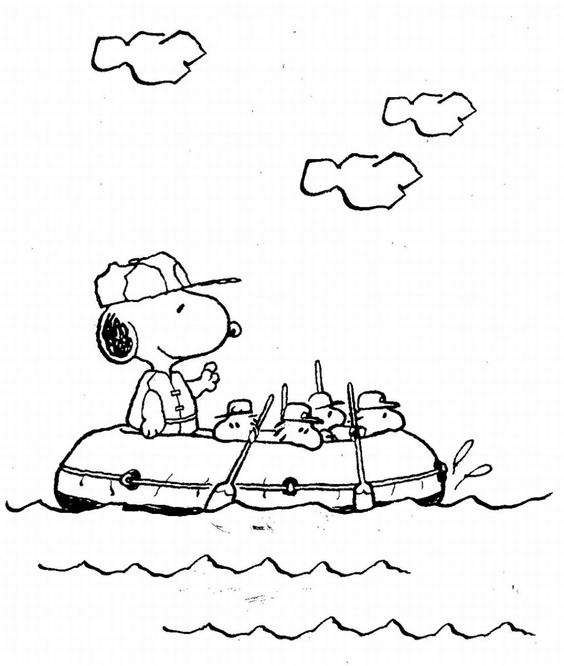 Snoopy the Dog Coloring Pages