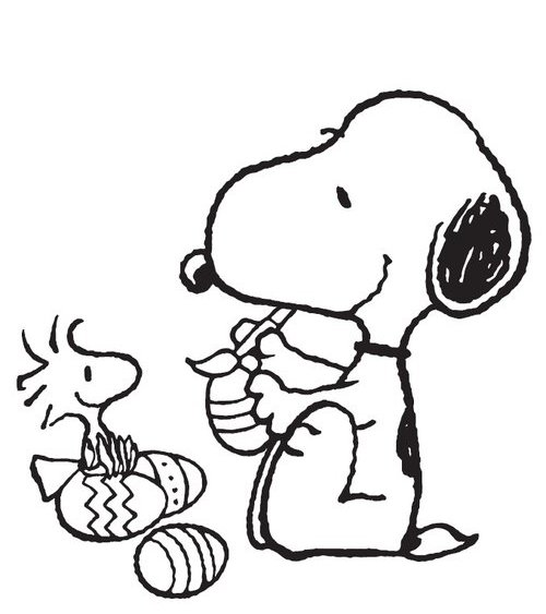 Snoopy Coloring Pages Easter