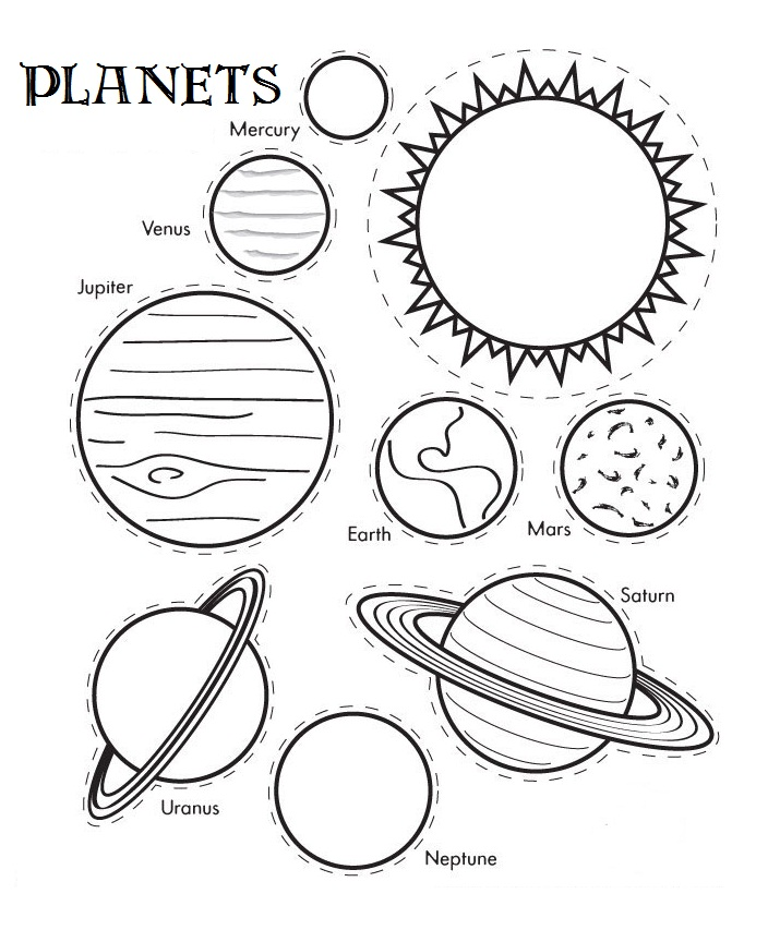 Solar System Coloring Pages Preschool