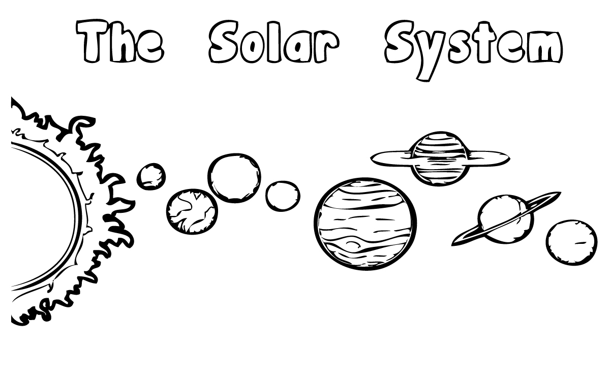 Solar System Coloring Picture