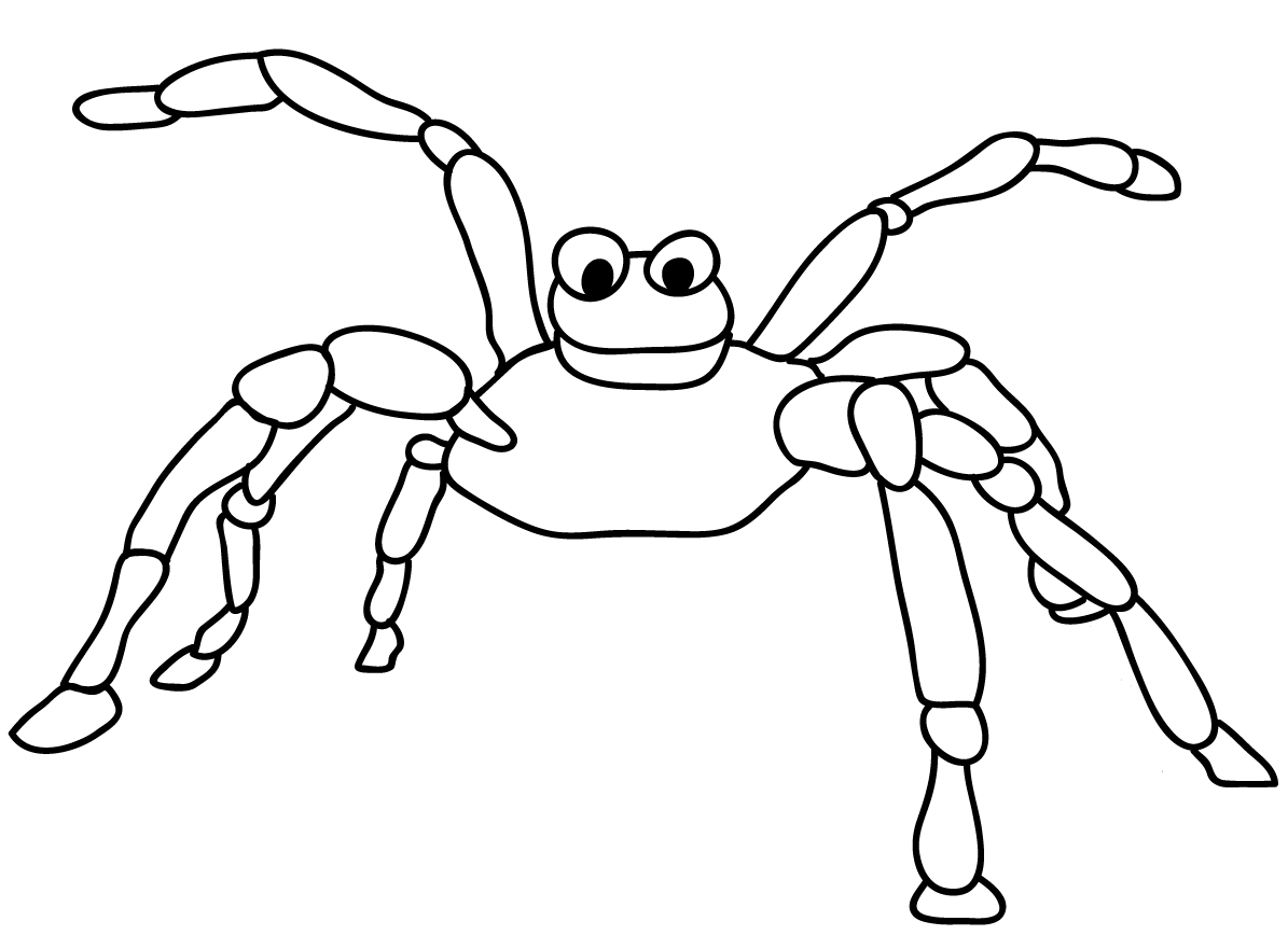 Free Spider Coloring Sheets