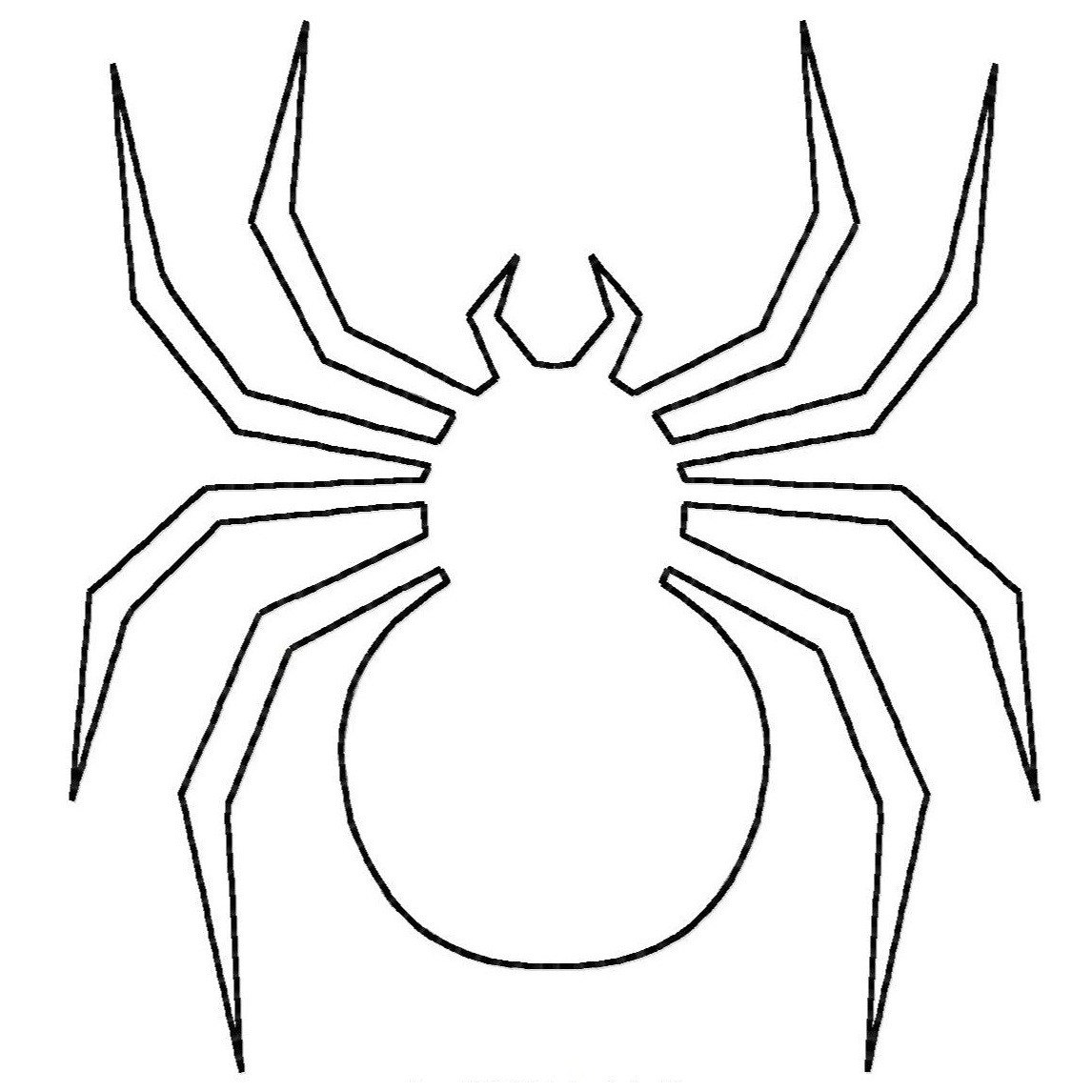 Spider Printable Coloring Page
