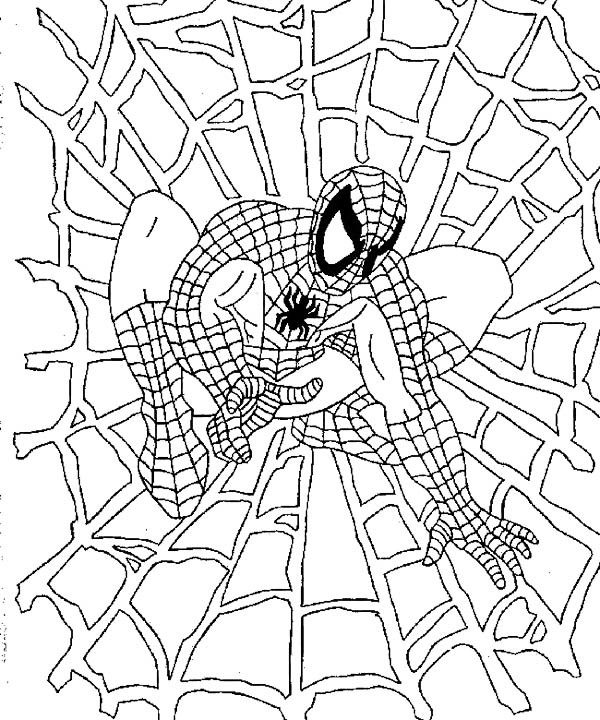 Spiderman 4 Coloring Page