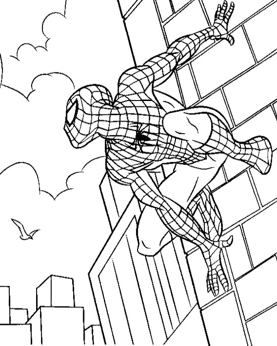 Spiderman Coloring Image