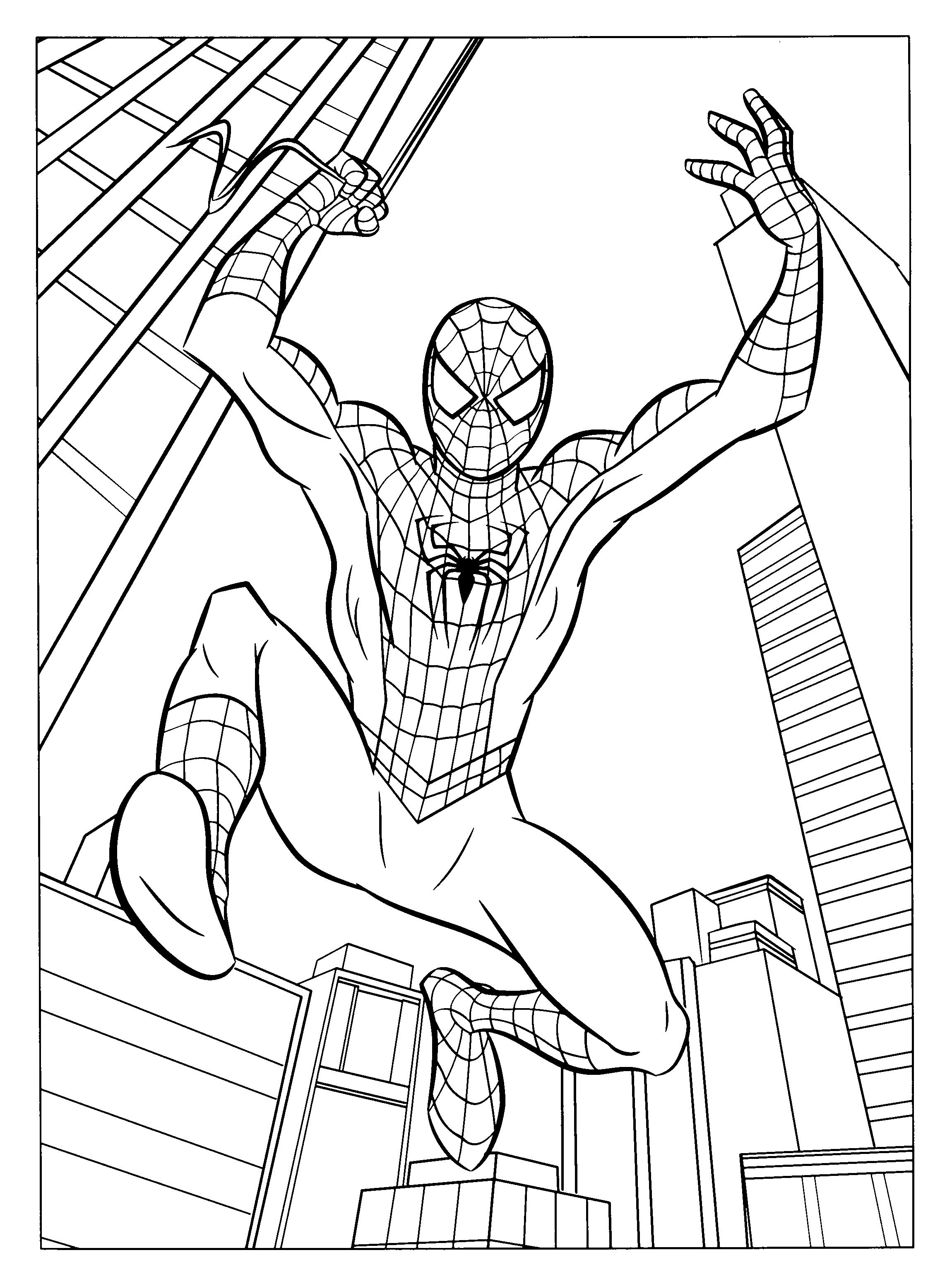 Spiderman Coloring Page