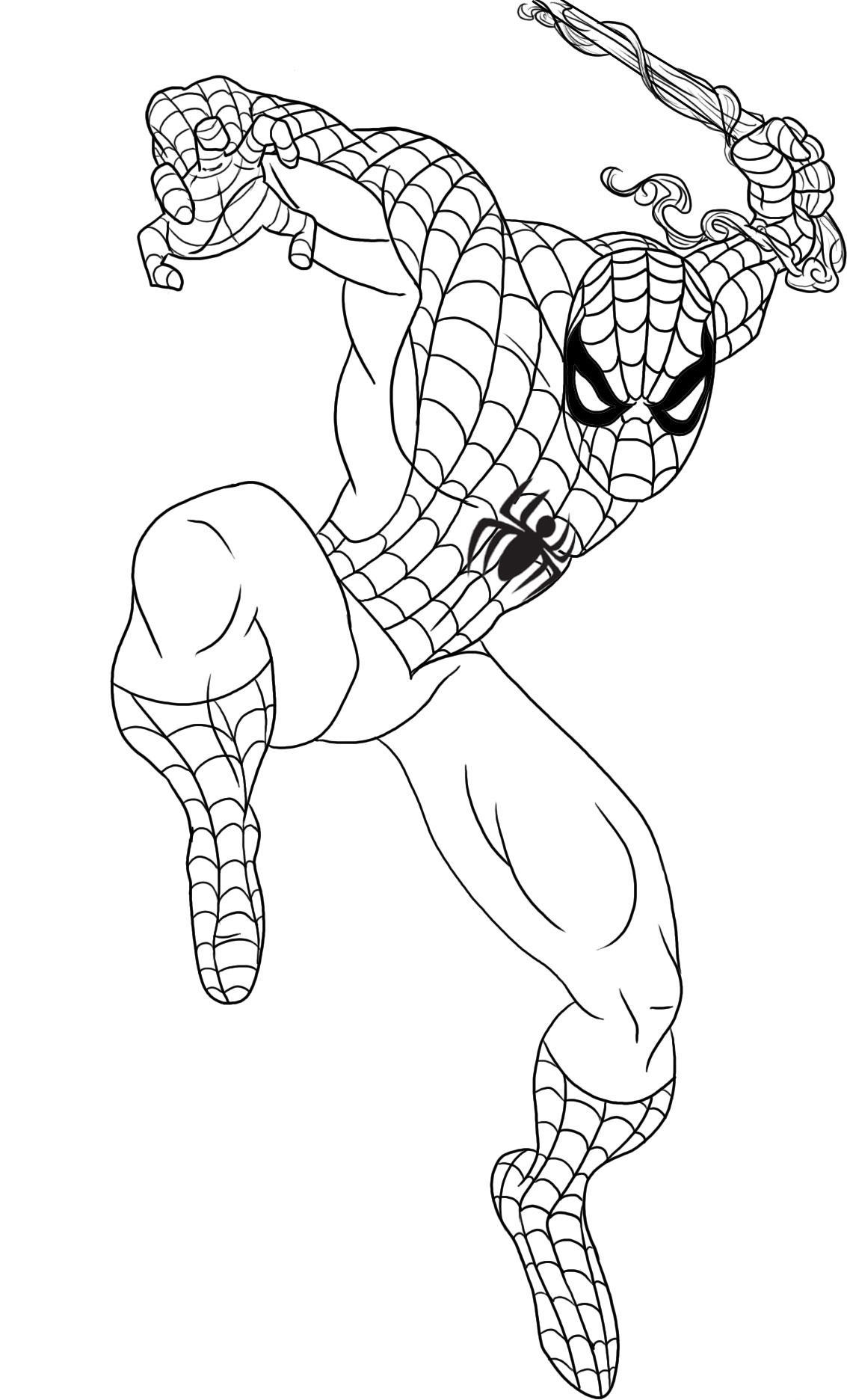 Pin on spiderman coloring pages for kids | 1872x1133