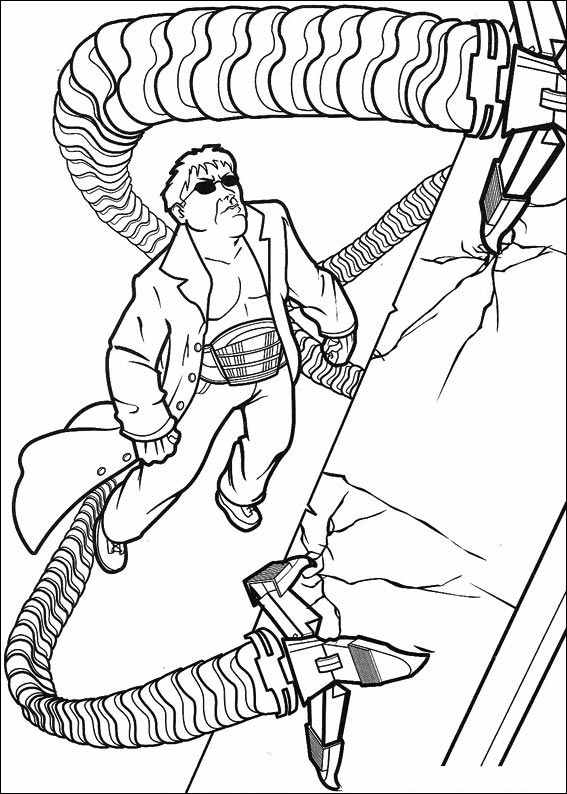 Spiderman and Doc Ock Coloring Pages