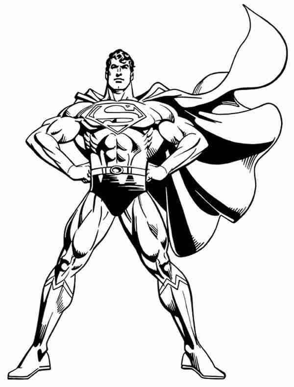 Superman coloring pages 360coloringpages for Super man coloring page