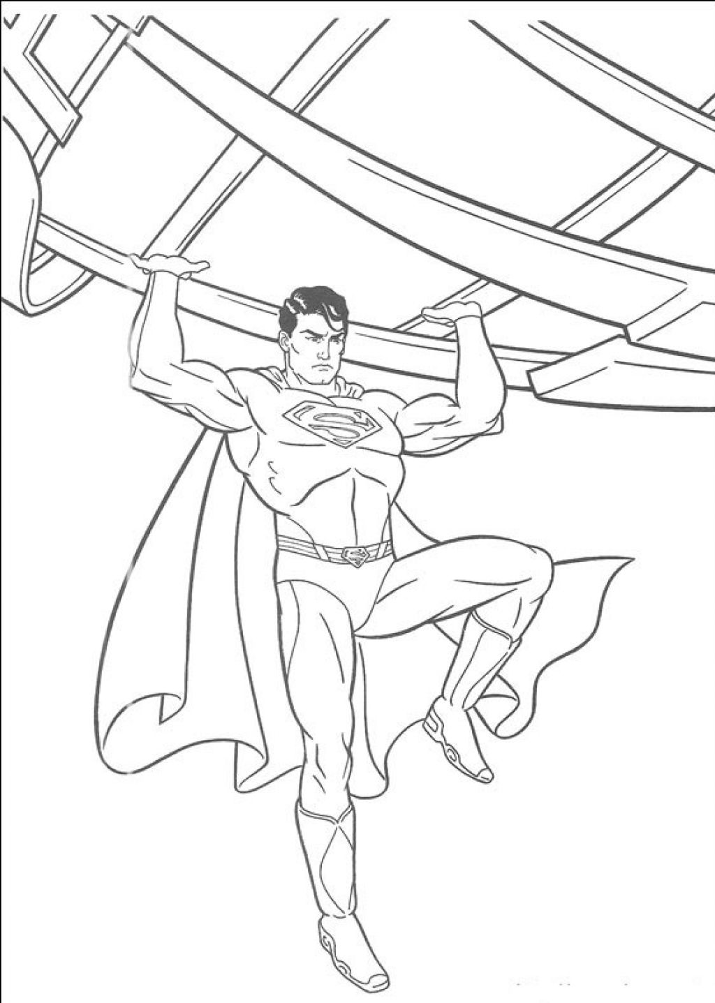 It is an image of Peaceful Superman Coloring Pages Printable