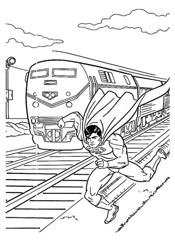 Superman Coloring Page Free