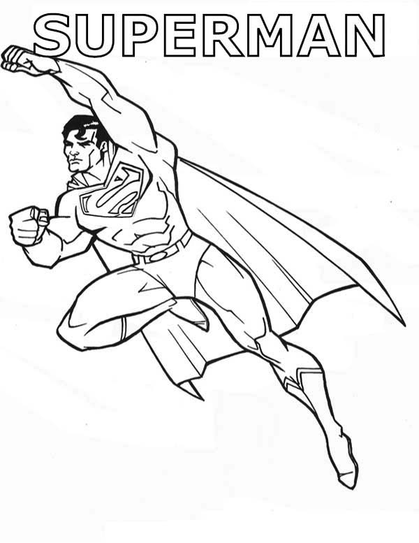 Superman Coloring Page For Free Printable Pages