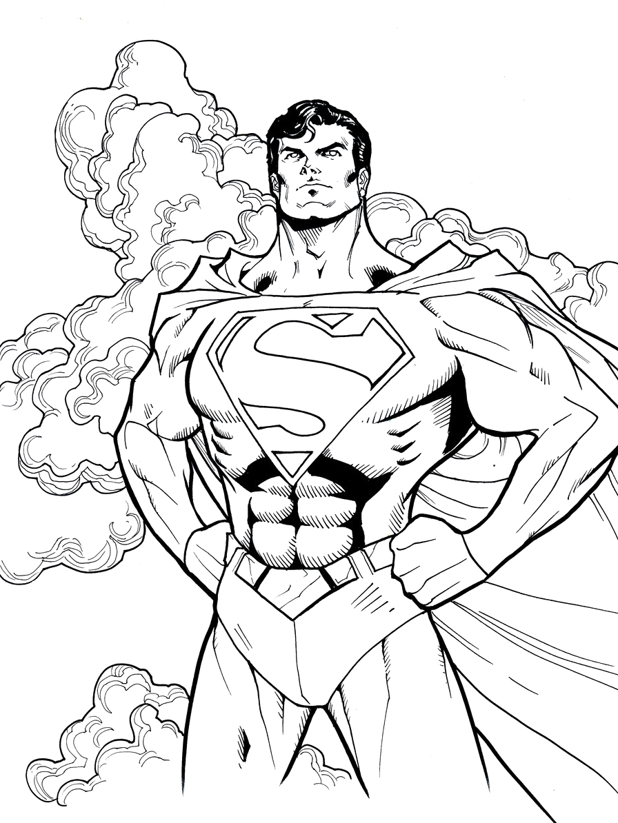Superman Man of Steel Coloring Page