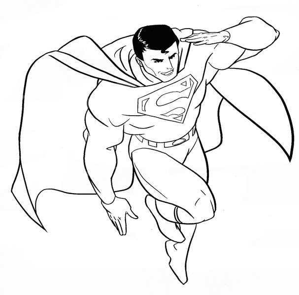 Superman Picture to Color