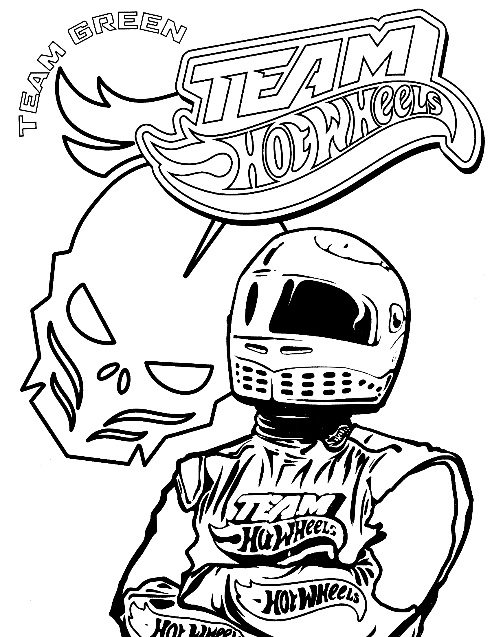 Hot Wheels Team Coloring Pages