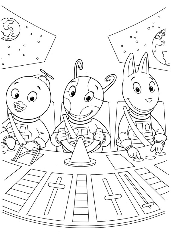 The Backyardigans Coloring Page Free