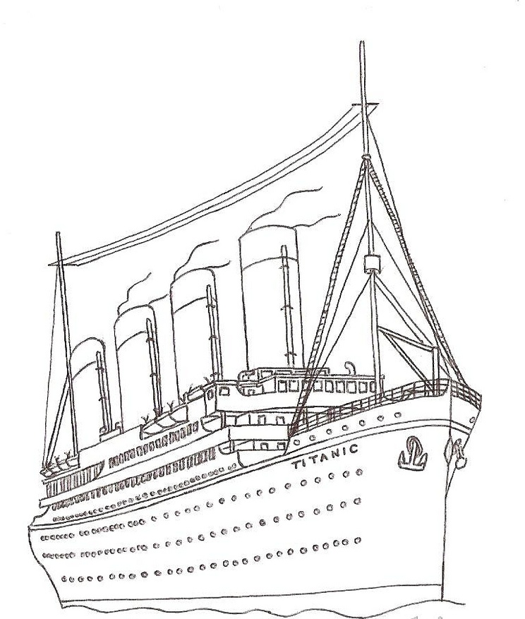 Titanic Coloring Pages | 360ColoringPages