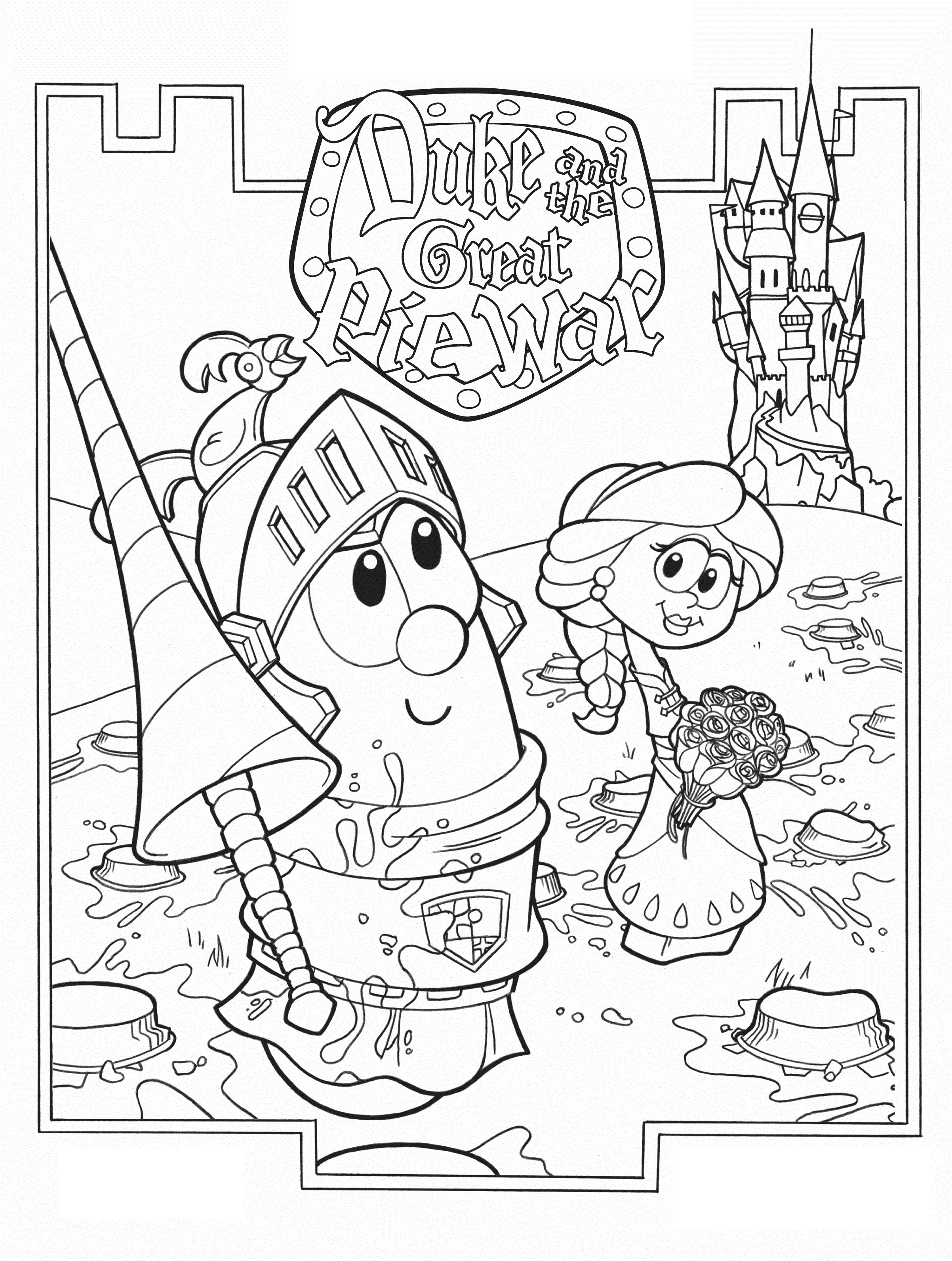 Veggie Tales Coloring Pages Printable Free