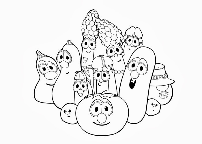 Veggie Tales League of Incredible Vegetables Coloring Pages