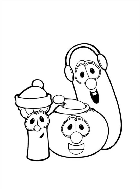 Veggie Tales Rack Shack and Benny Coloring Pages