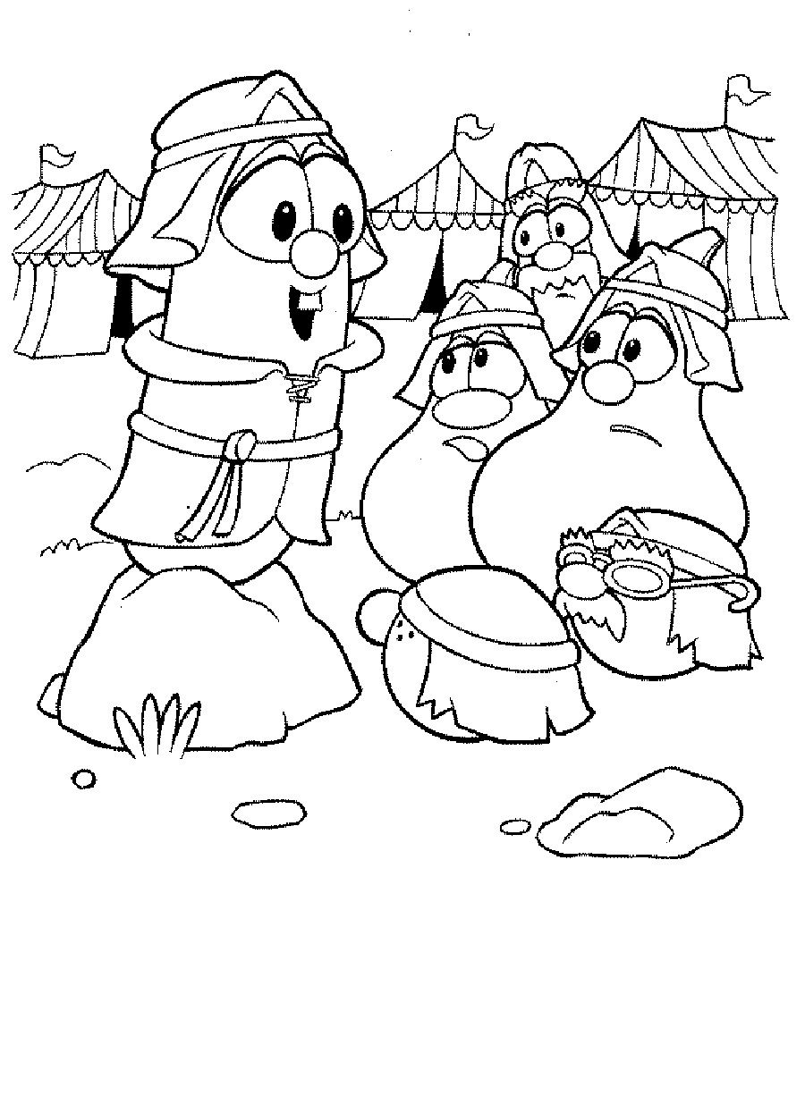 Veggie Tales Coloring Page for Kids
