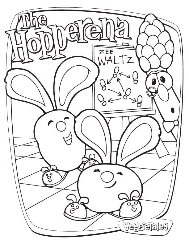 Veggie Tales Coloring Page to Print