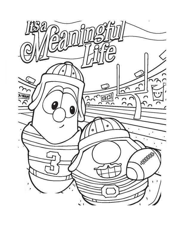 free coloring pages veggie tales - photo#23