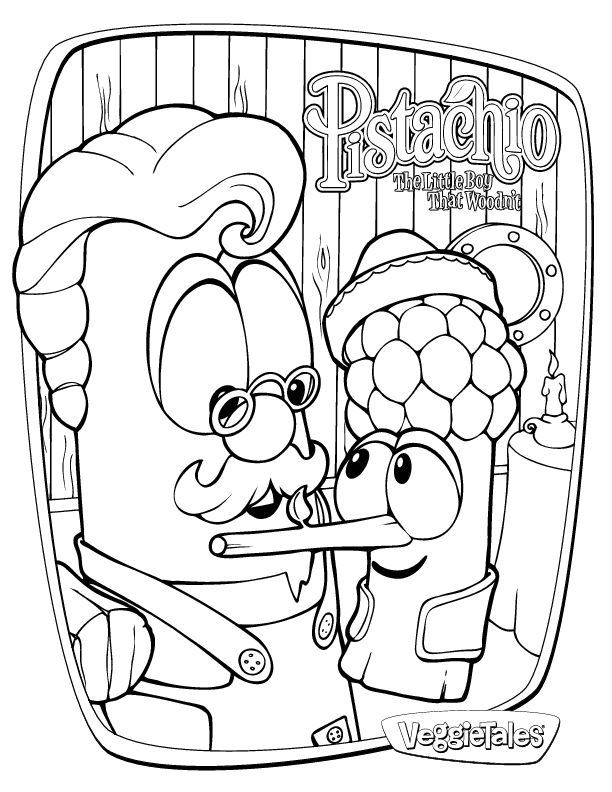Veggie Tales Coloring Picture
