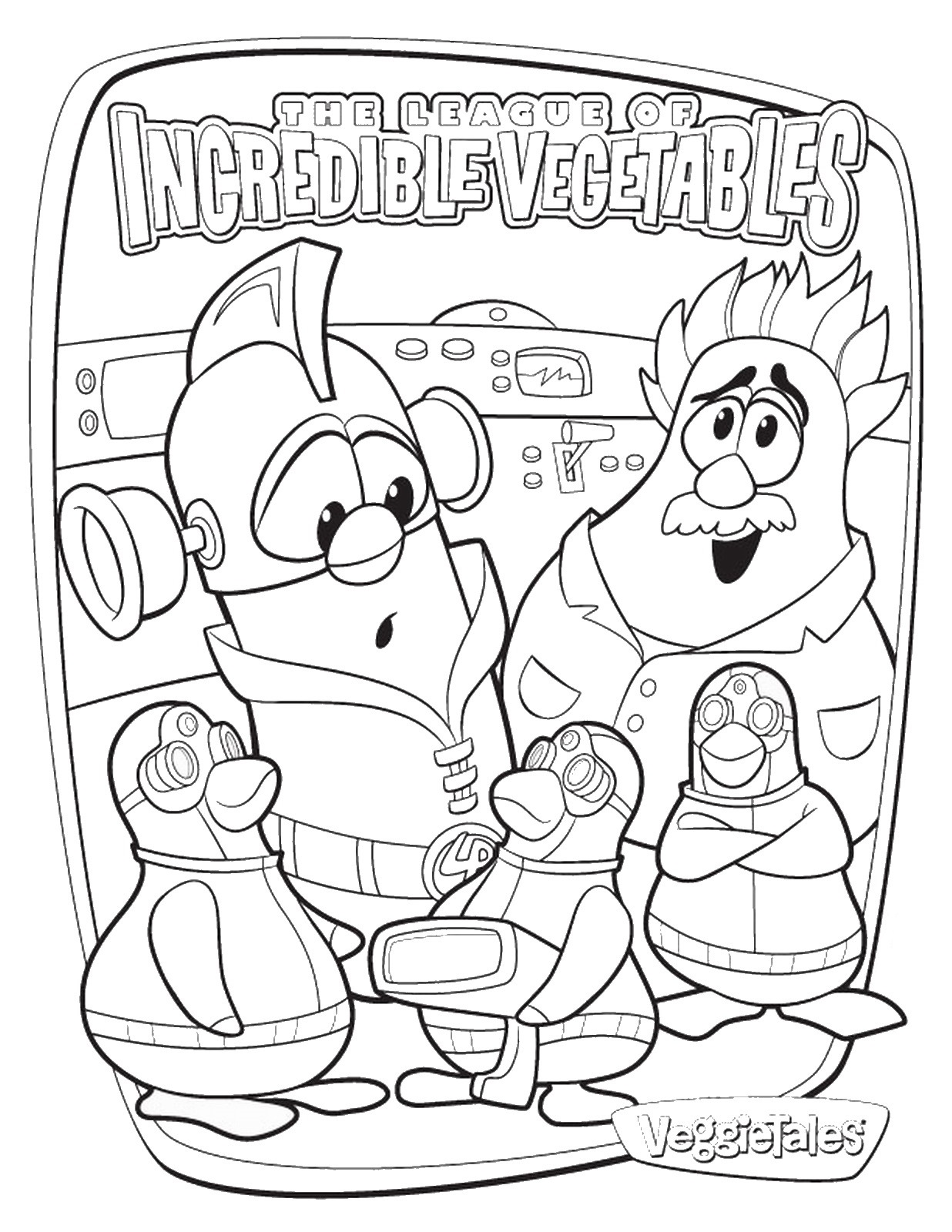 Free Veggie Tales Coloring Sheets