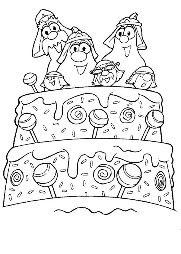 Printable Veggie Tales Coloring Sheets