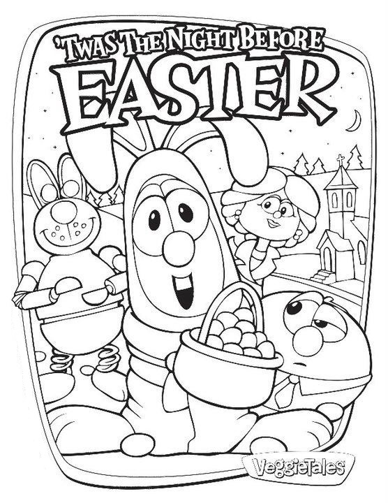 Veggie Tales Coloring Sheet