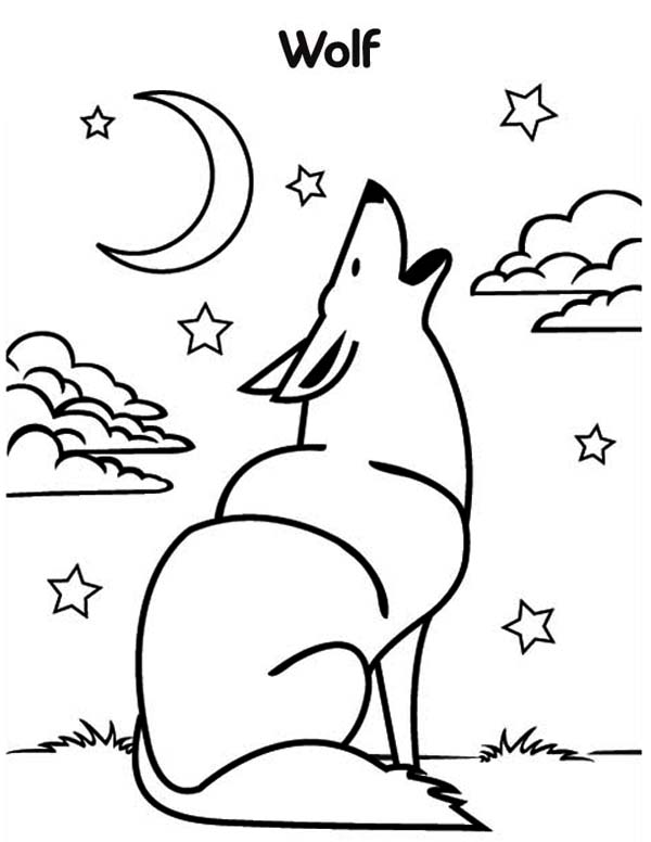 Wolf coloring pages 360coloringpages for Free printable wolf coloring pages
