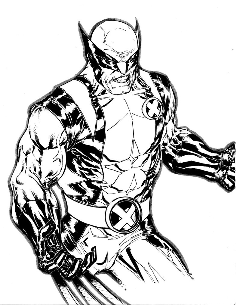 Wolverine Coloring Pages | 360ColoringPages