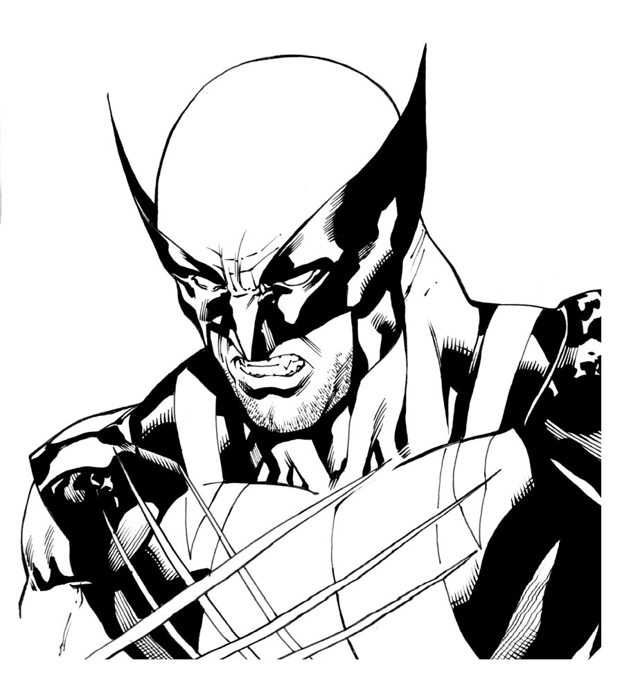 Free Wolverine Coloring Page