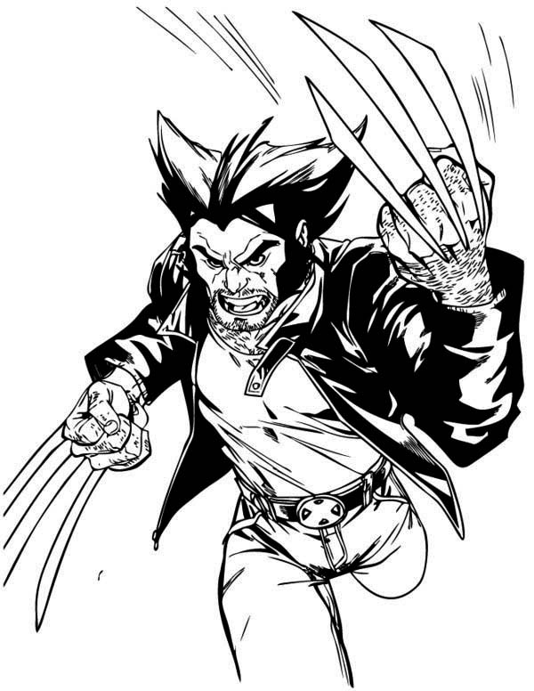 free coloring pages of wolverine - photo#15