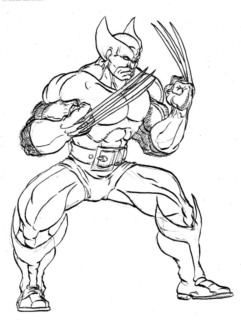 Wolverine Coloring Pictures