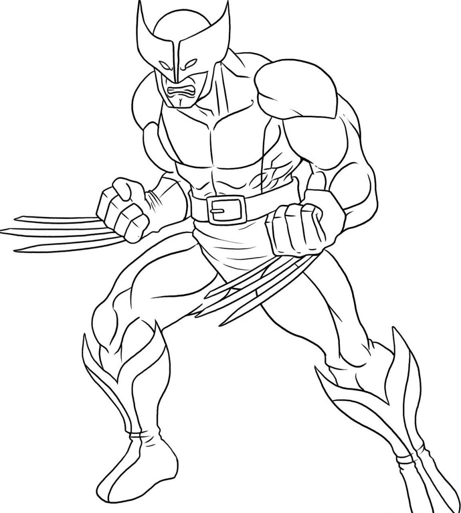 Wolverine Coloring Picture