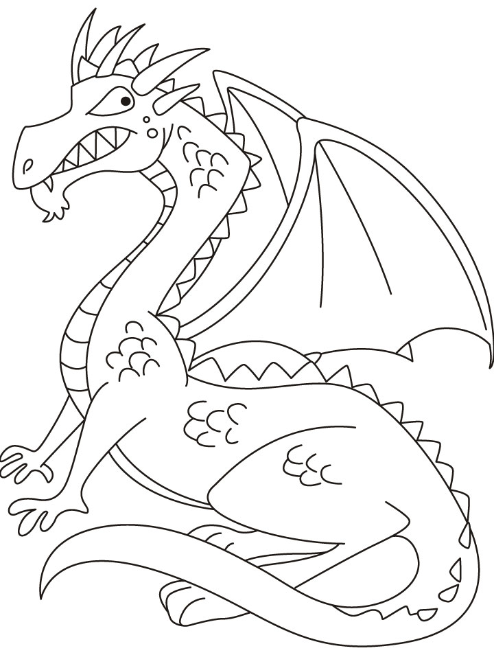 Dragon coloring pages 360coloringpages for Awesome coloring page