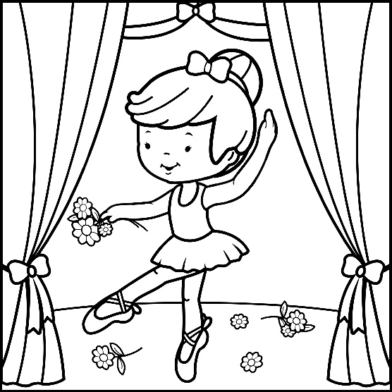 Ballerina Coloring Picture To Print Free Pages