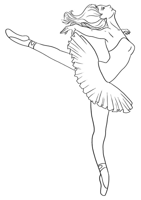 ballerina coloring page for kids ballerina coloring page - Ballerina Coloring Pages Kids
