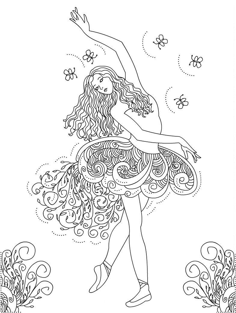 Ballerina Coloring Pictures Printable