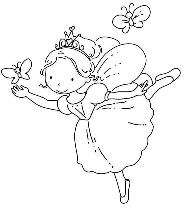 Ballerina Coloring Pages Fairy