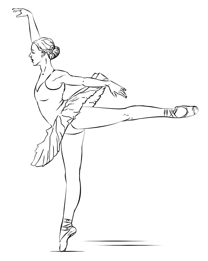 Ballerina Picture to Color