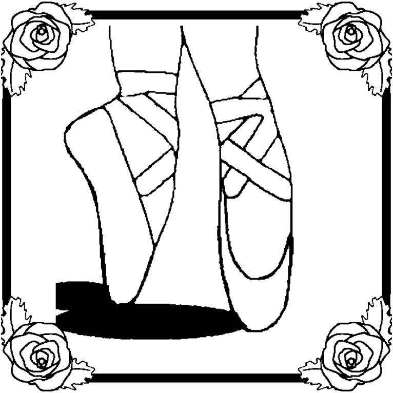Ballerina Coloring Pages Shoes