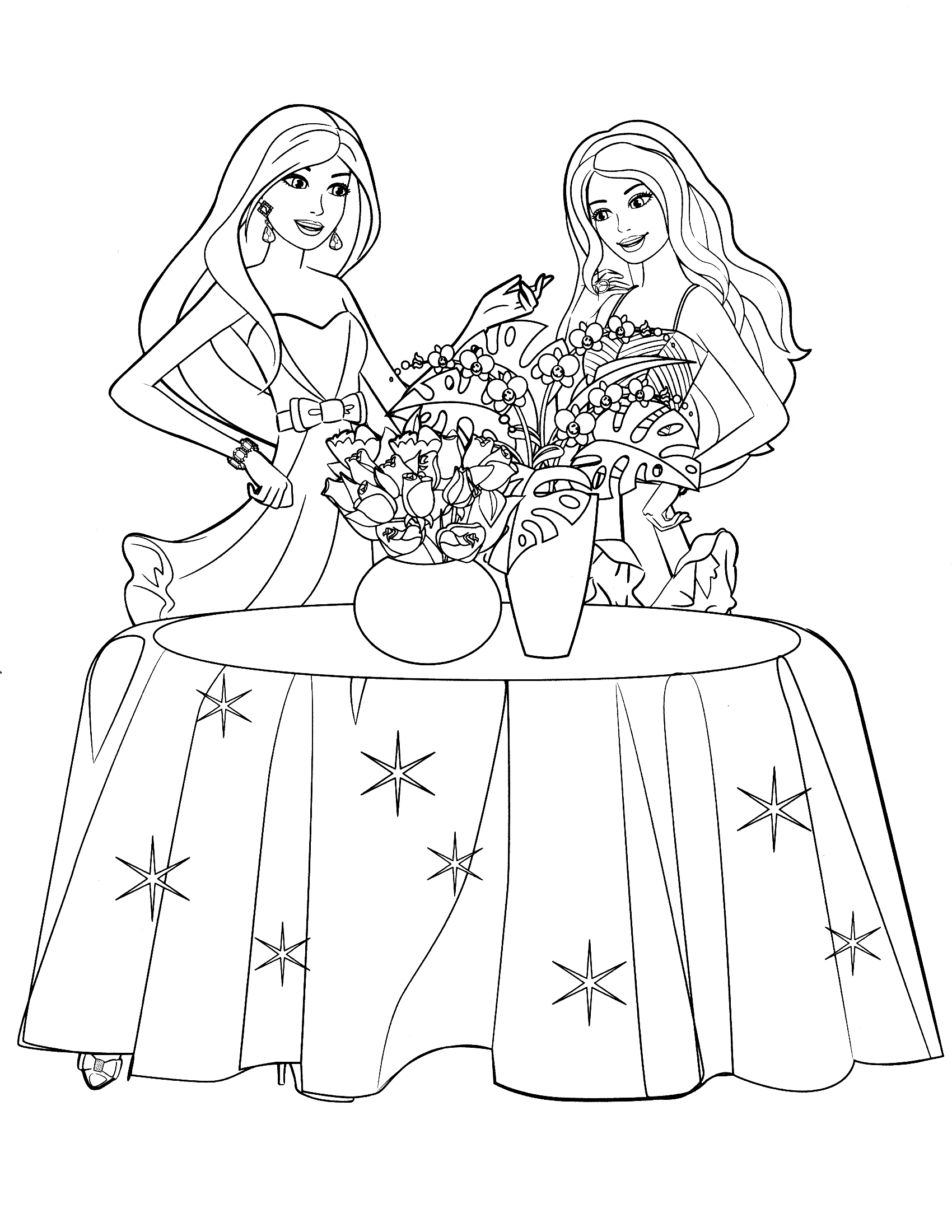 Barbie coloring pages 360coloringpages for Barbie dress up coloring pages