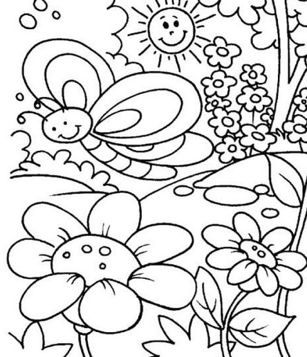 outline pictures flowers coloring pages for kids | Flower Coloring Pages | 360ColoringPages