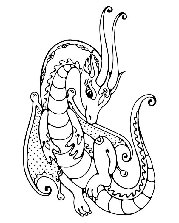 dragon gets by coloring pages - photo#22