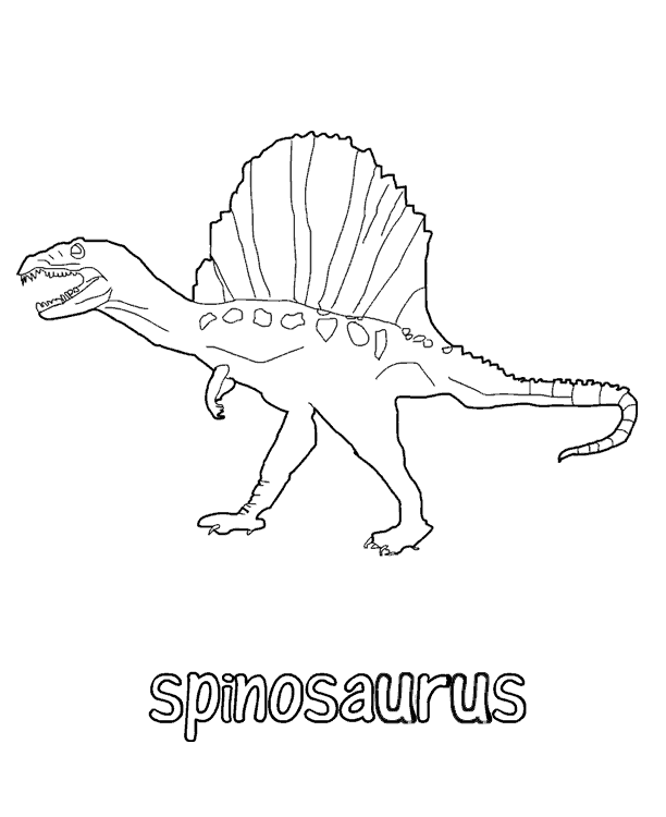 Dinosaur coloring pages 360coloringpages for Dinosaur coloring pages spinosaurus